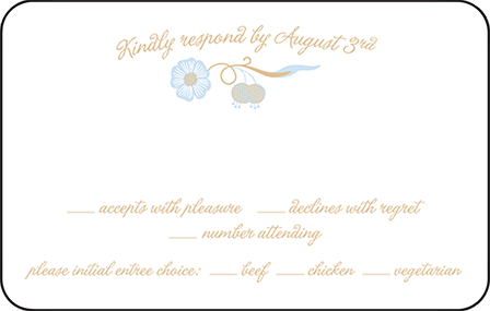 Indian Summer Letterpress Reply Postcard Front Design Medium
