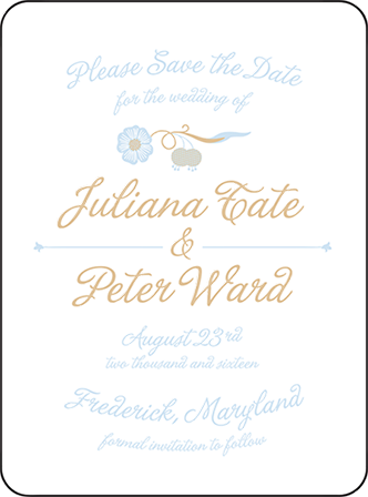 Indian Summer Letterpress Save The Date Design Medium