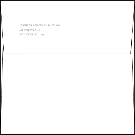 Irving Letterpress Envelope Design Medium