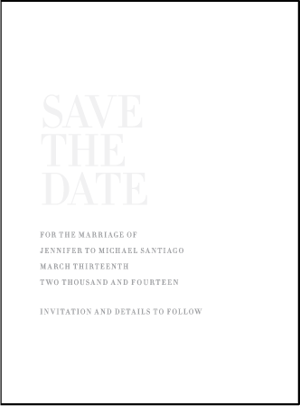 Irving Letterpress Save The Date Design Medium