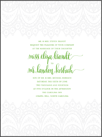 Istanbul Lace Letterpress Invitation Design Medium