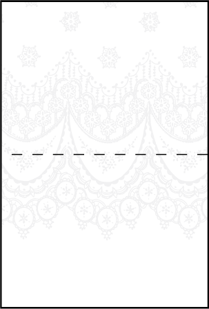 Istanbul Lace Letterpress Placecard Fold Design Medium