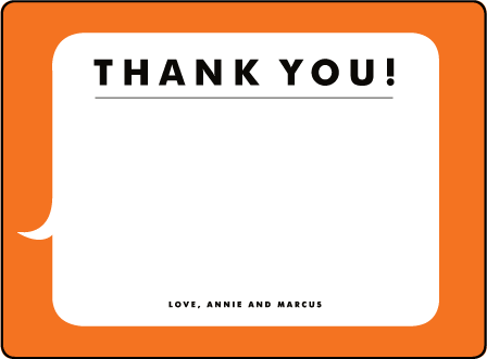 Jack and Jill Letterpress Thank You Card Flat Design Medium
