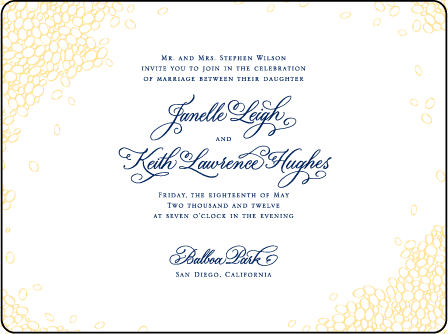 Janelle Elegance Letterpress Invitation Design Medium