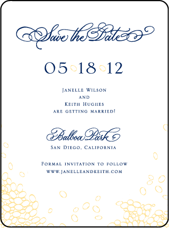 Janelle Elegance Letterpress Save The Date Design Medium