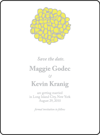 Joyful Yarrow Letterpress Save The Date Design Medium