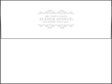 La Salle Letterpress Envelope Design Medium