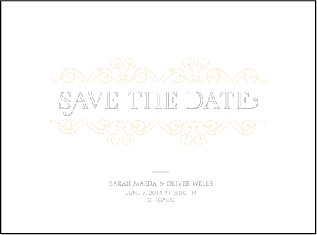 La Salle Letterpress Save The Date Design Medium