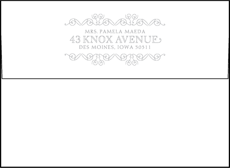La Salle Letterpress Thank You Card Flat Envelope Design Medium
