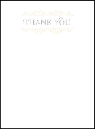 La Salle Letterpress Thank You Card Flat Design Medium
