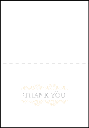 La Salle Letterpress Thank You Card Fold Design Medium
