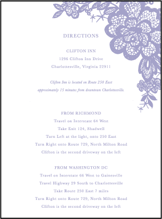 Lace Letterpress Direction Design Medium