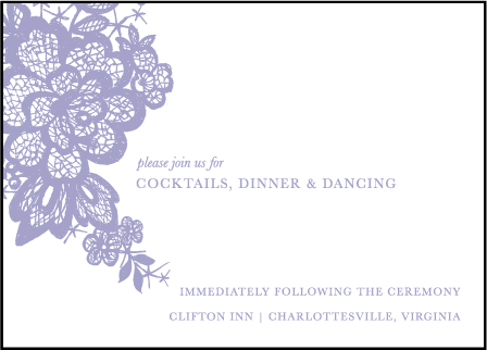 Lace Letterpress Reception Design Medium
