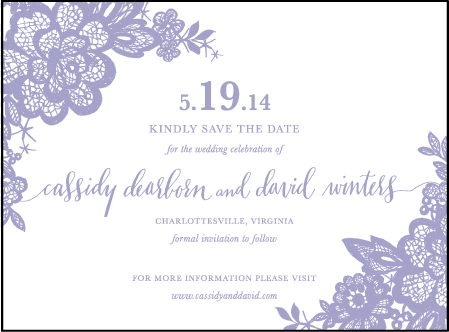 Lace Letterpress Save The Date Design Medium
