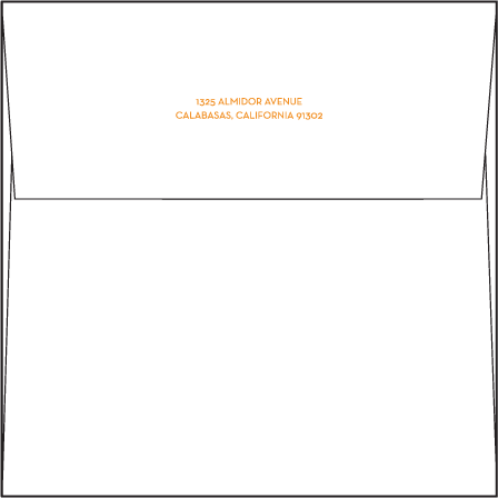 Lana Letterpress Envelope Design Medium