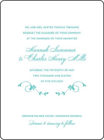 Larkin Letterpress Invitation Design Medium
