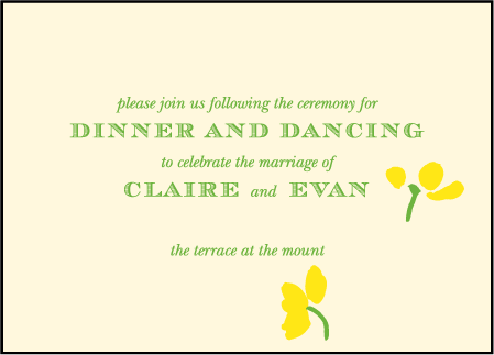 Lenox Botanical Letterpress Reception Design Medium