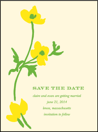 Lenox Botanical Letterpress Save The Date Design Medium