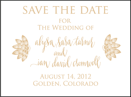 Lillyblade Letterpress Save The Date Design Medium