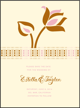 Lola Letterpress Save The Date Design Medium