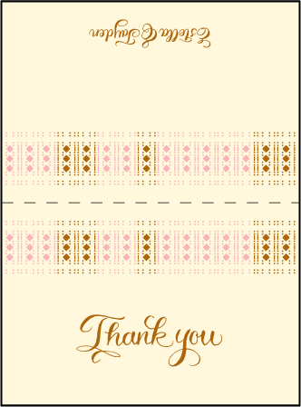 Lola Letterpress Thank You Card Fold Design Medium