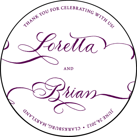 Loretta Formal Letterpress Coaster Design Medium
