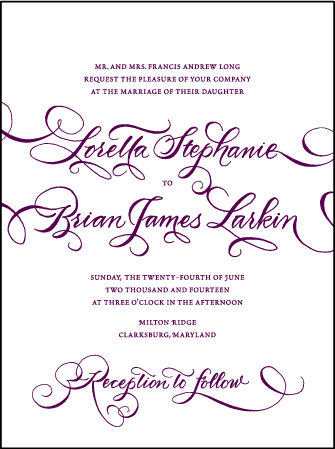 Loretta Formal Letterpress Invitation Design Medium