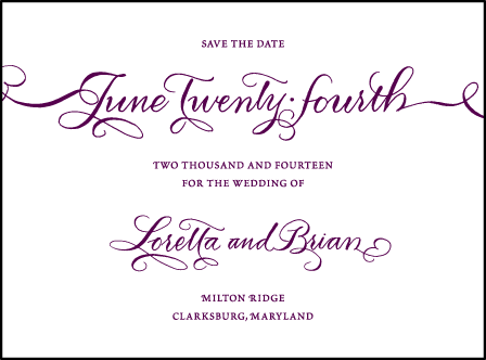 Loretta Formal Letterpress Save The Date Design Medium