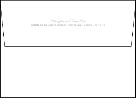 Lumos Letterpress Envelope Design Medium