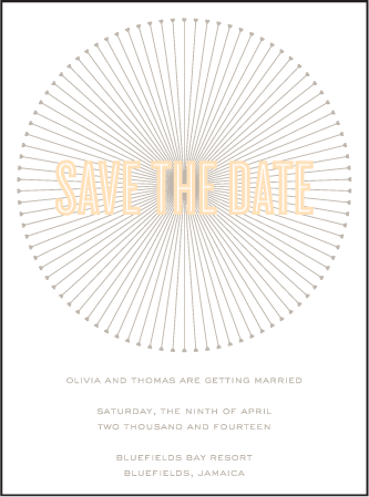 Lumos Letterpress Save The Date Design Medium