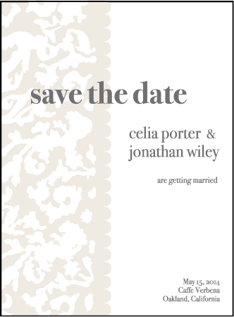 Lush Letterpress Save The Date Design Medium