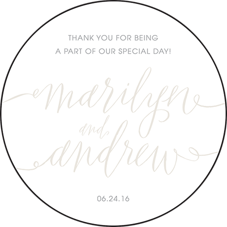 Madison Chic Letterpress Coaster Design Medium
