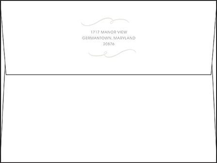 Madison Chic Letterpress Envelope Design Medium