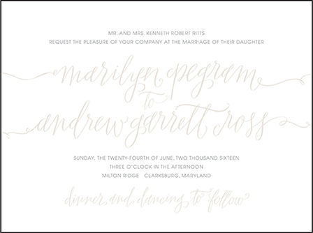 Madison Chic Letterpress Invitation Design Medium