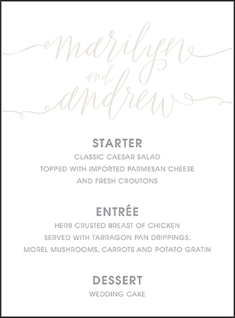 Madison Chic Letterpress Menu Design Medium
