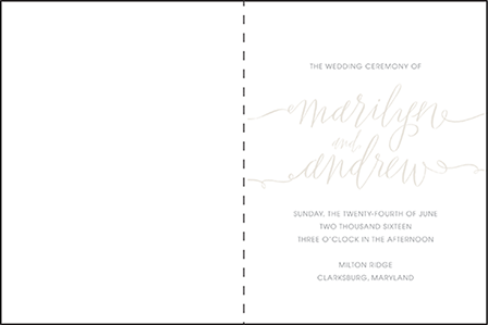 Madison Chic Letterpress Program Design Medium