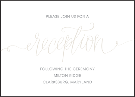 Madison Chic Letterpress Reception Design Medium