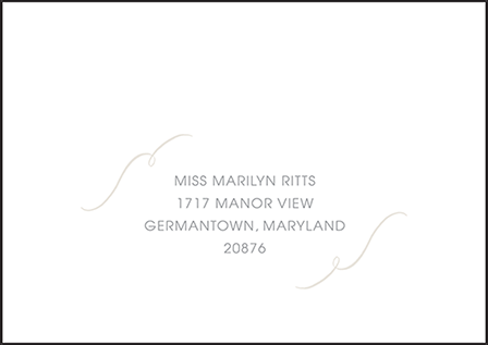 Madison Chic Letterpress Reply Envelope Design Medium