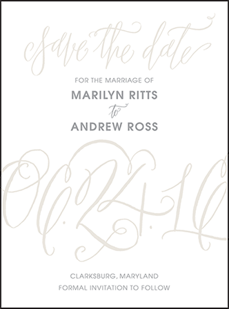 Madison Chic Letterpress Save The Date Design Medium