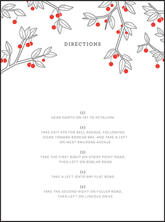 Mae Letterpress Direction Design Medium