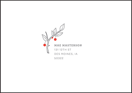 Mae Letterpress Reply Envelope Design Medium