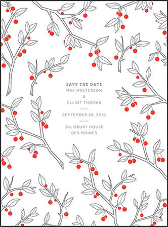 Mae Letterpress Save The Date Design Medium
