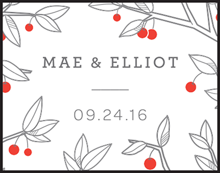 Mae Letterpress Stamp Design Medium
