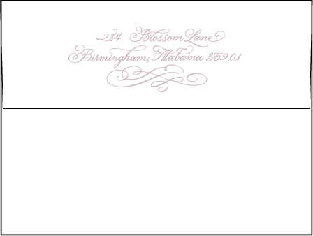 Magnolia Letterpress Envelope Design Medium