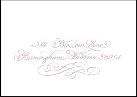Magnolia Letterpress Reply Envelope Design Medium