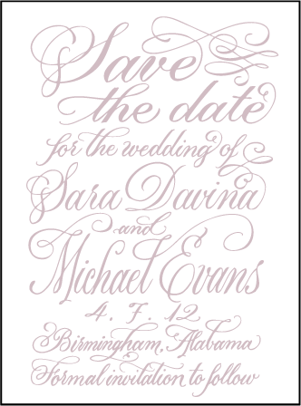 Magnolia Letterpress Save The Date Design Medium