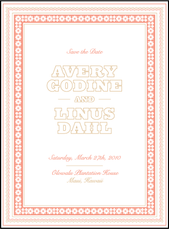 Maja Letterpress Save The Date Design Medium
