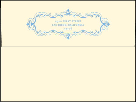 Marais Letterpress Envelope Design Medium