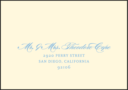Marais Letterpress Reply Envelope Design Medium