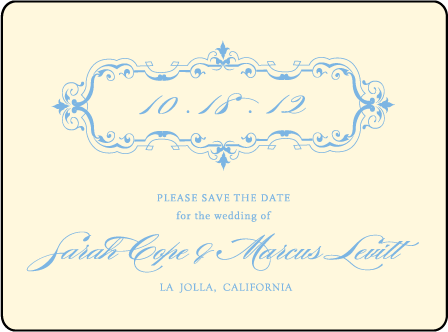 Marais Letterpress Save The Date Design Medium